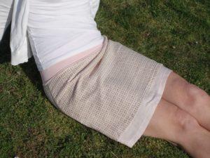 letní dámská sukně, dvojvrstvá, áčkový střih, vzdušná sukně. vyrobeno s láskou. je to bájo