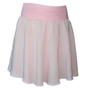 kolová sukně světle růžová