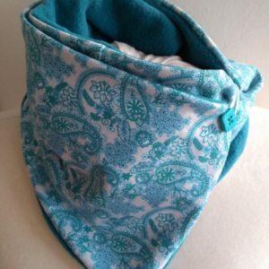 dětský nákřčník-šála, blue ornaments, vyrobeno v české republice. dílna Je to Bájo