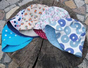 Letní klobouček pro dítě. Různé designy. vyrobeno ručně v čr. jetobájo