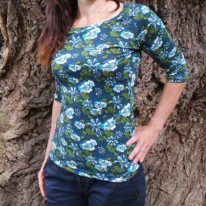 Dámské tričko s 3/4 rukávem, splývavý materiál. handmade produkt je to Bájo