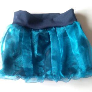 balonová sukně z tmavě modré organzy