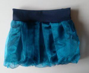 dětská balonová sukně z tmavě modré organzy