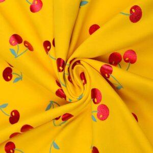 třešně na žluté, korunka