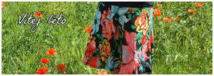 letní květovaná sukně